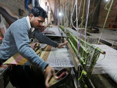 weaving process