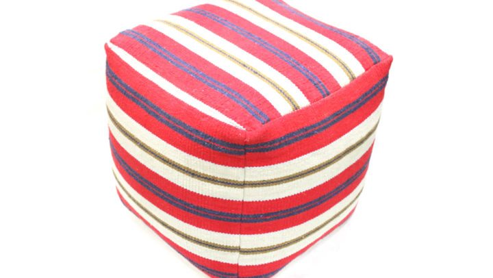 Red mixed color POUFS AND OTTOMANS